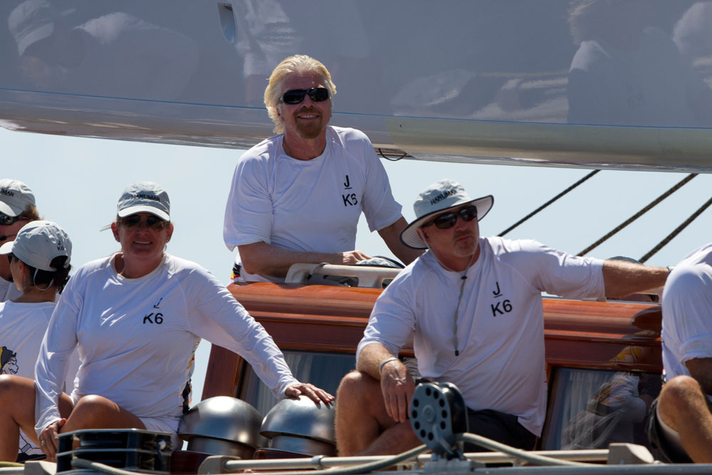 Sir Richard branson goes J-Class sailing