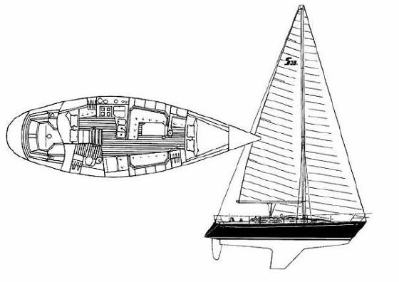 Le Sabre 38 a été désigné comme un croiseur de performance avec des capacités de passage rapide.