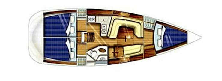 Le populaire Jeanneau Sun Odyssey 35.