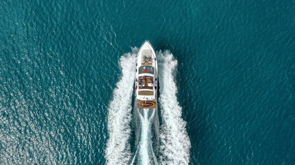 Motor boat on the water.