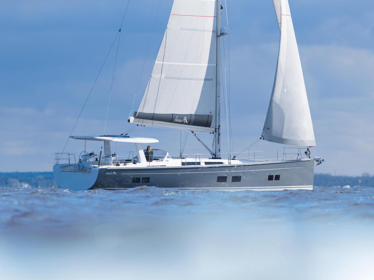 Hanse 588 under sail